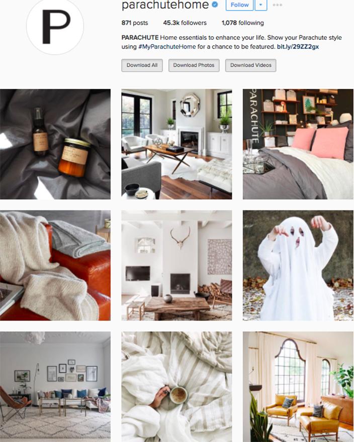 Best interior decor inspiration to follow on instagram @parachutehome