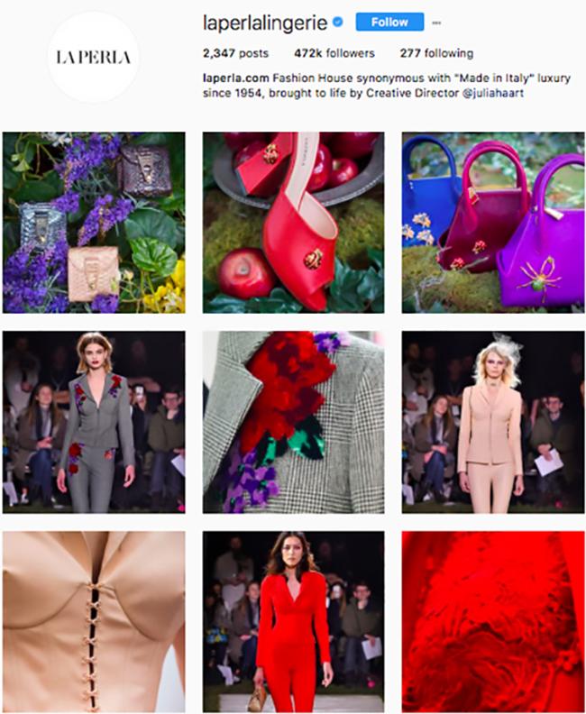 la perla lingerie, best lingerie brands on instagram, lingerie instagram, who to follow on instagram 2017, hottest instagram accounts to follow