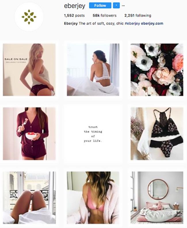 eberjey, best lingerie brands on instagram, lingerie instagram, who to follow on instagram 2017, hottest instagram accounts to follow