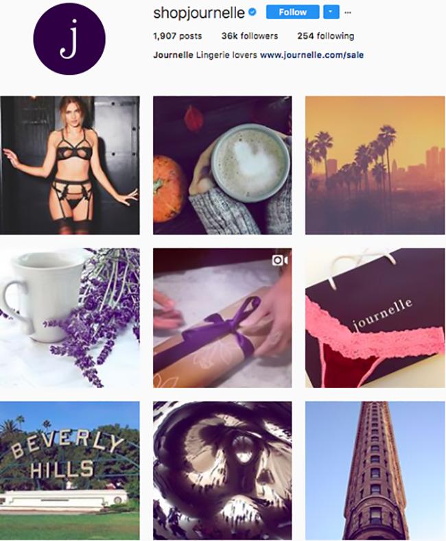journelle lingerie, best lingerie brands on instagram, lingerie instagram, who to follow on instagram 2017, hottest instagram accounts to follow