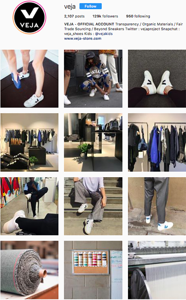 best shoe brands instagram, veja
