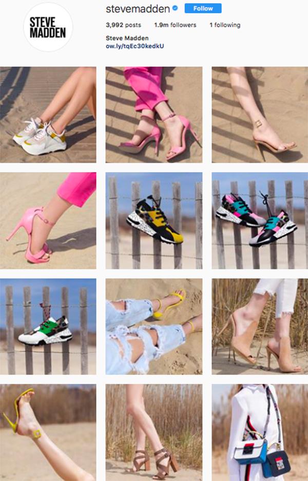 best shoe brands on instagram, steve madden