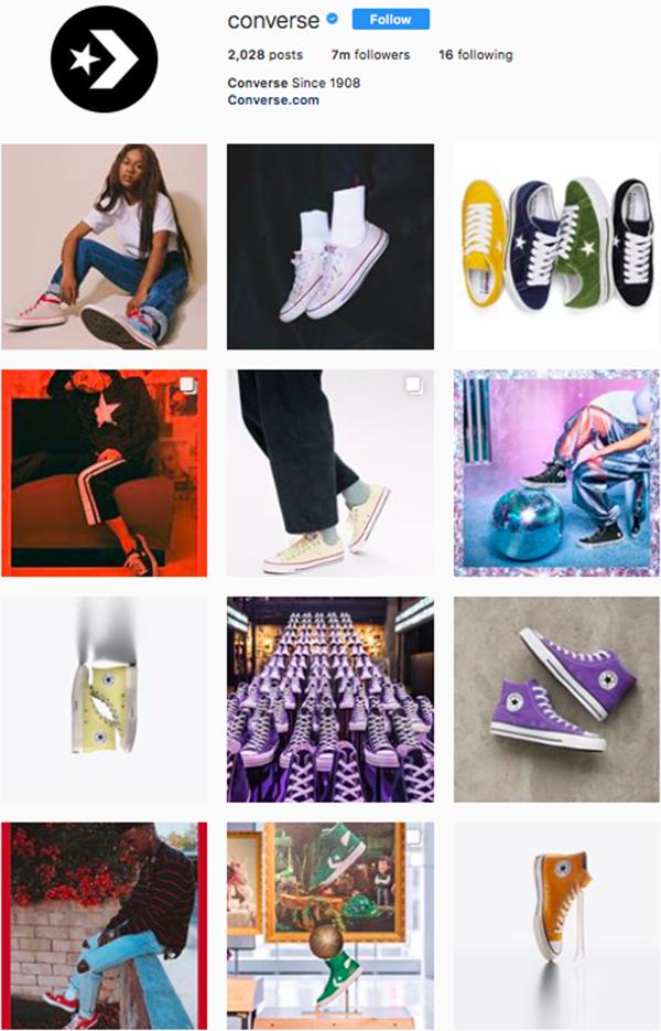 best shoe brands on instagram, converse