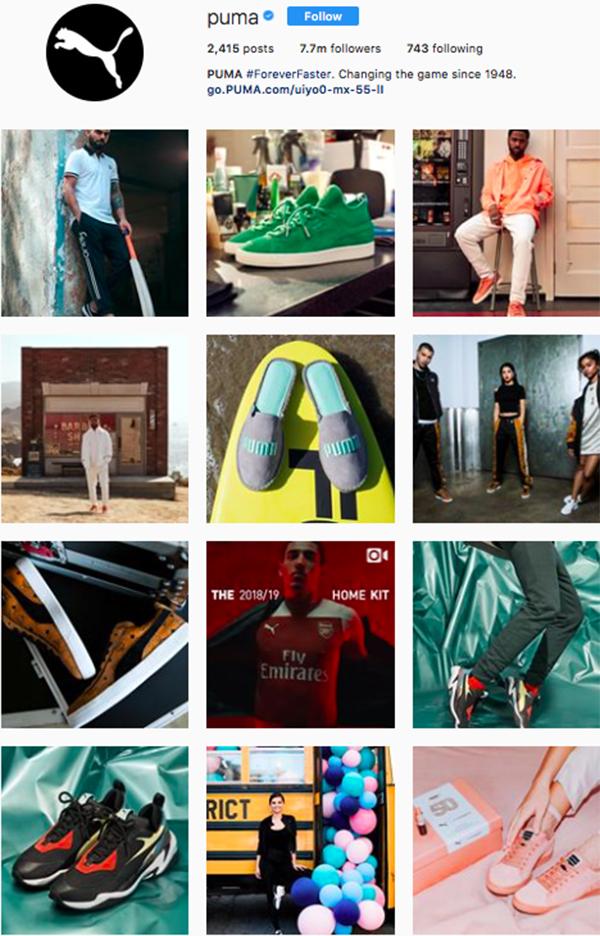 best shoe brands on instagram, puma
