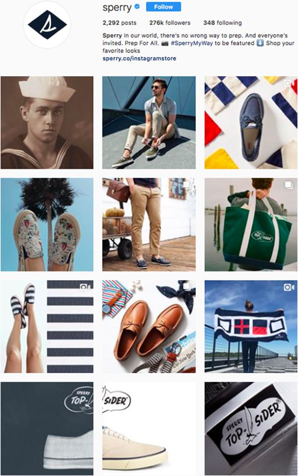 best shoe brands on instagram, sperry