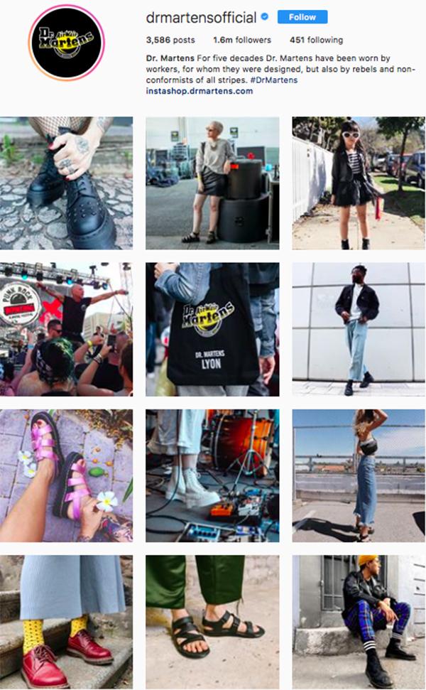 best shoe brands on instagram, dr martens