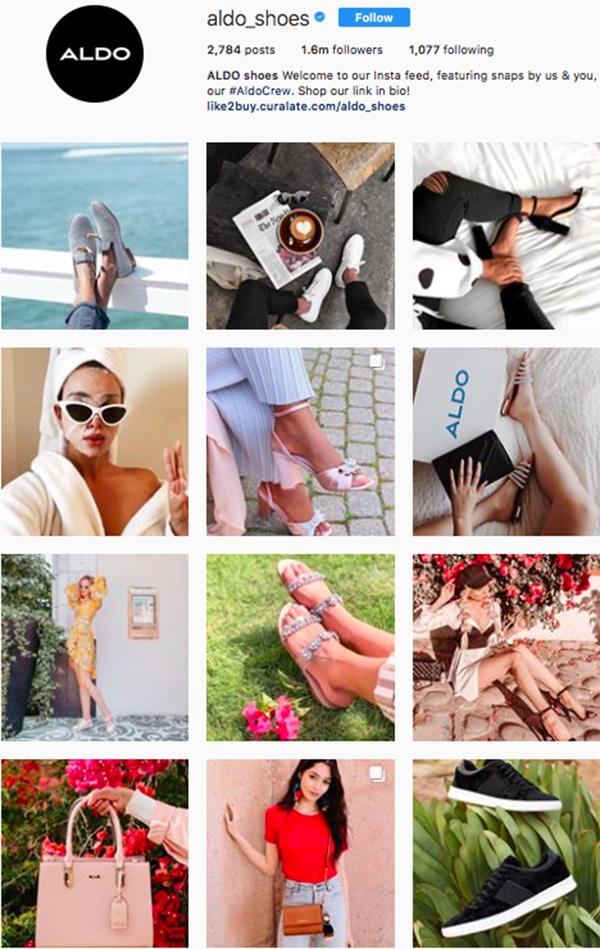 best shoe brands on instagram, aldo shoes