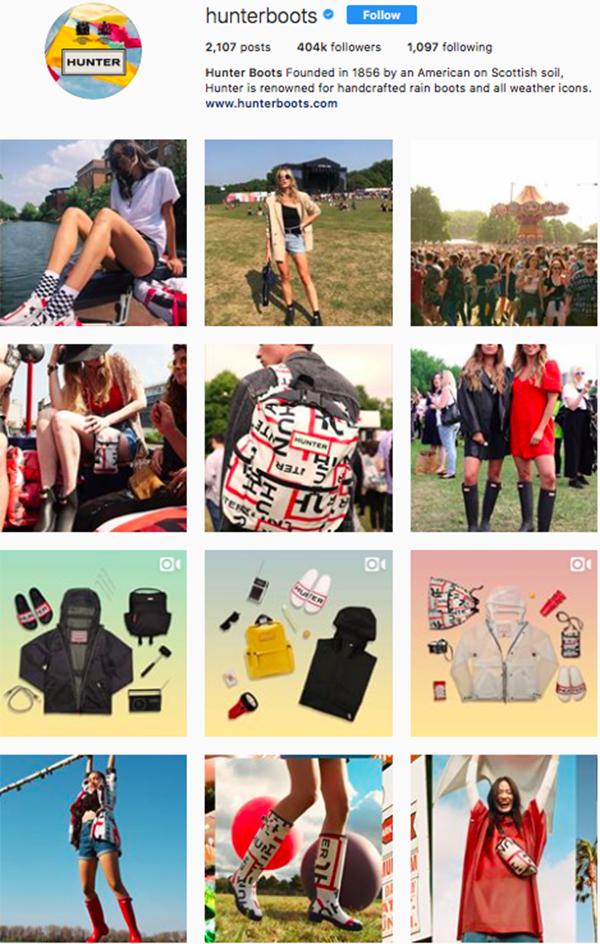 best shoe brands on instagram, hunter boots