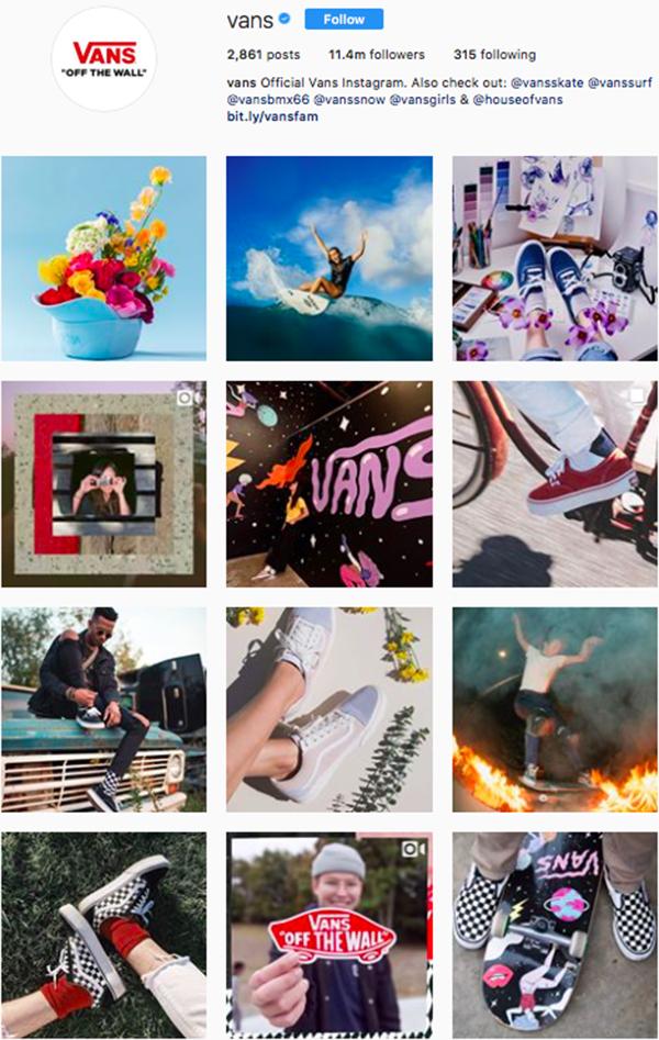 best shoe brands on instagram, vans