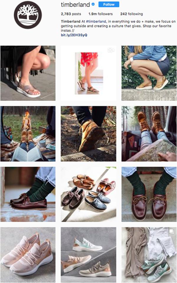 best shoe brands on instagram, timberland