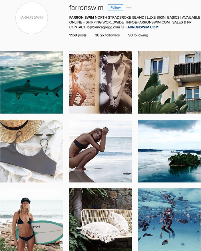 @farronswim instagram best swimwear brands follow