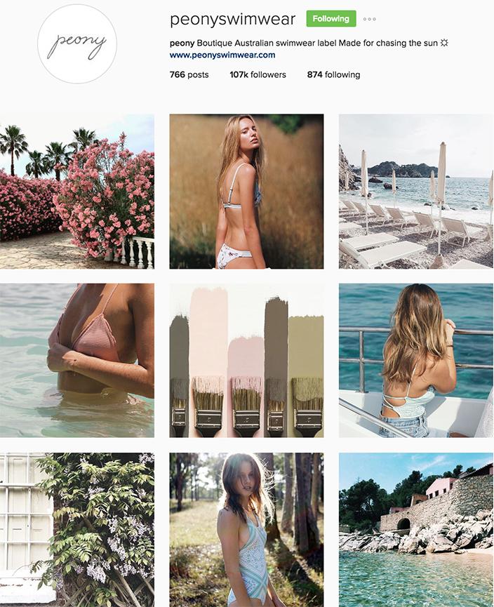 @peonyswimwear instagram best swimwear brands follow