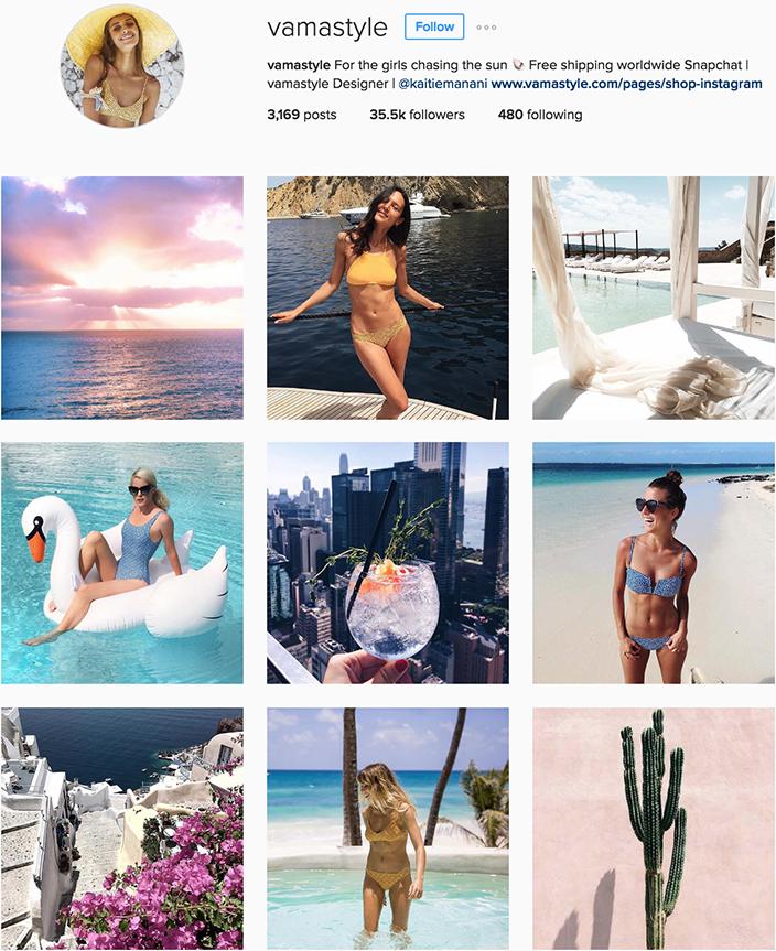 @vamastyle instagram best swimwear brands follow