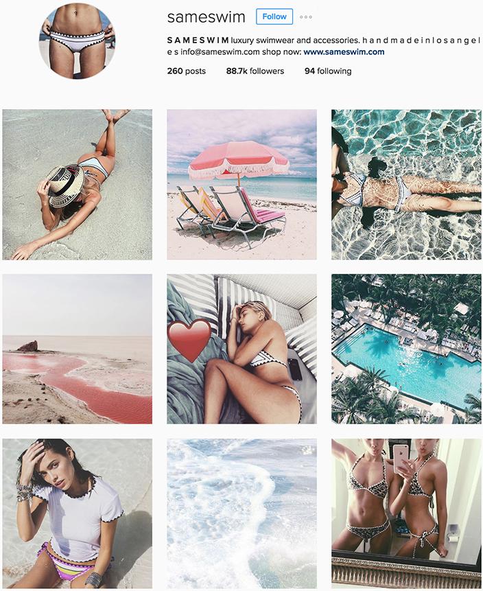 @sameswim instagram best swimwear brands follow