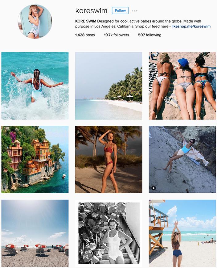 @koreswim instagram best swimwear brands follow