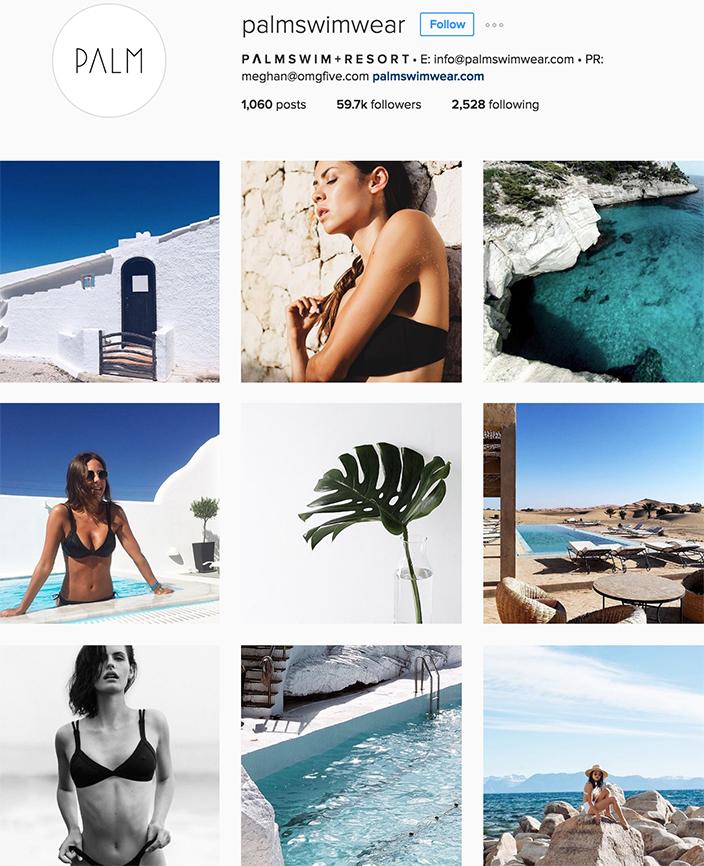 @palmswimwear instagram best swimwear brands follow
