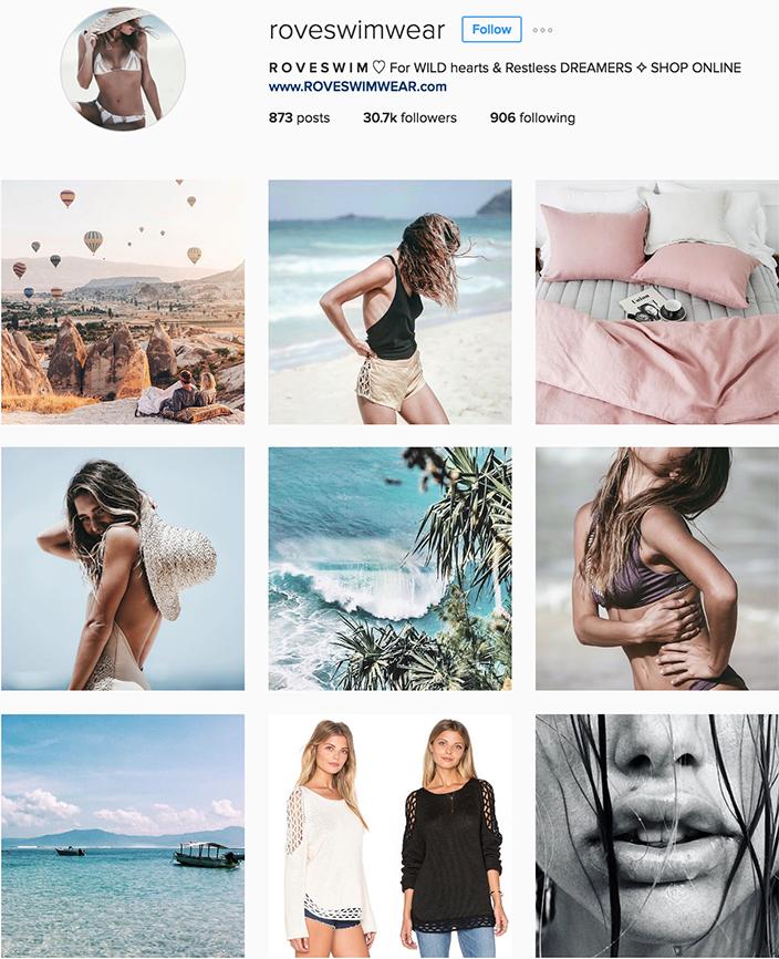 @roveswimwear instagram best swimwear brands follow