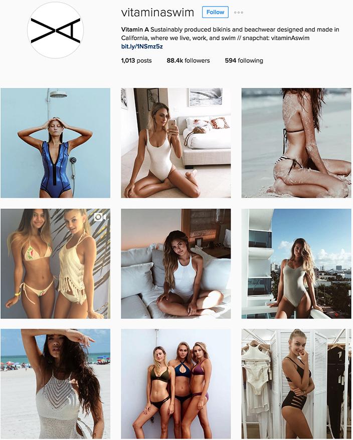 @vitaminaswim instagram best swimwear brands follow