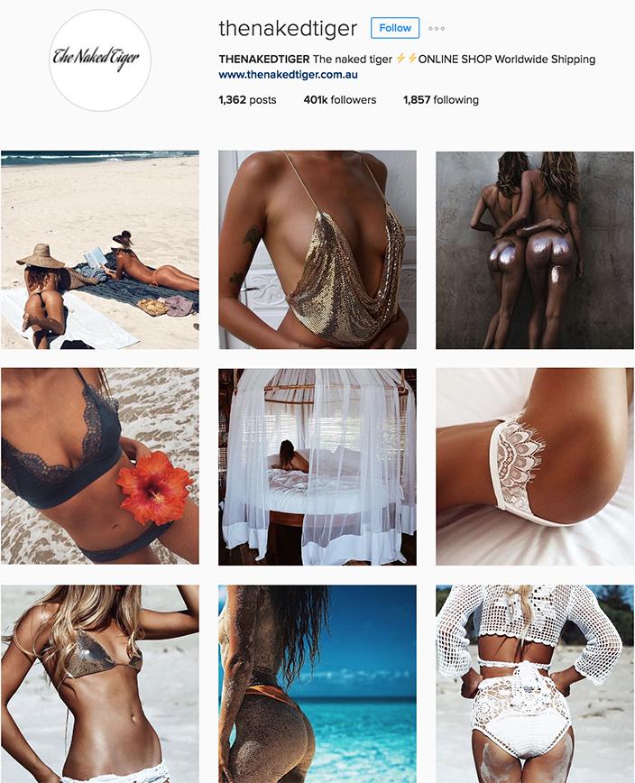 @thenakedtiger instagram best swimwear brands follow