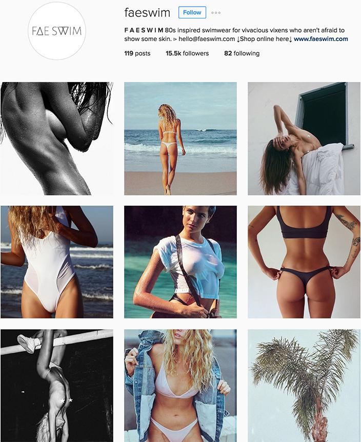 @faeswim instagram best swimwear brands follow