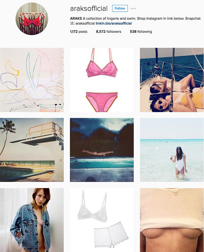 @ARAKSOFFICIAL instagram best swimwear brands follow