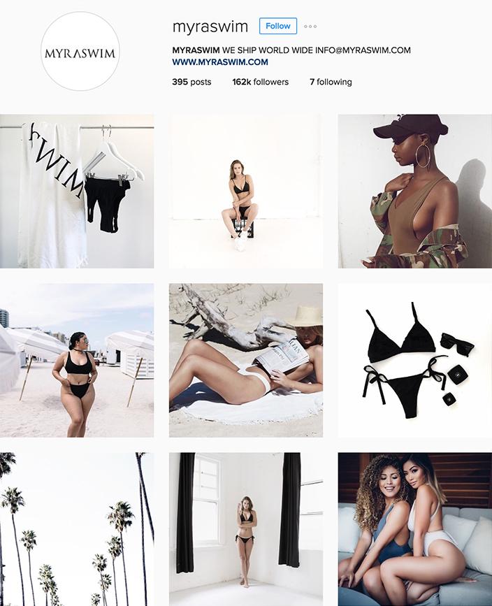 @myraswim instagram best swimwear brands follow