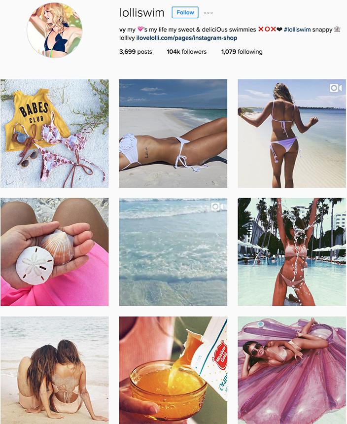 @lolliswim instagram best swimwear brands follow