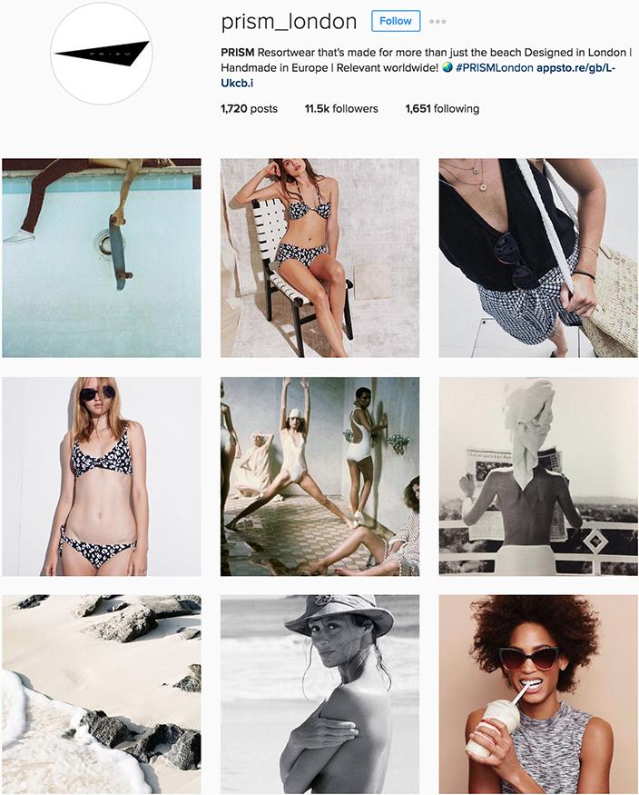 @prism_london instagram best swimwear brands follow