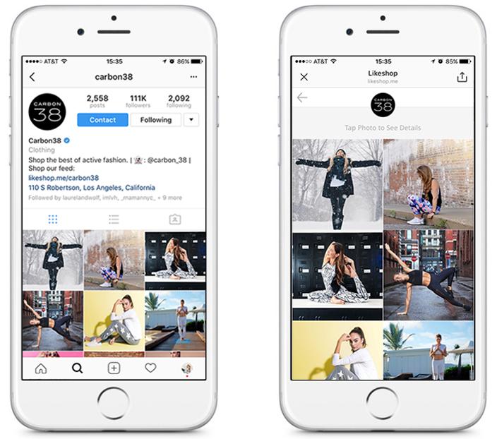 carbon38 instagram marketing strategy solution dash hudson likeshop link in bio case study
