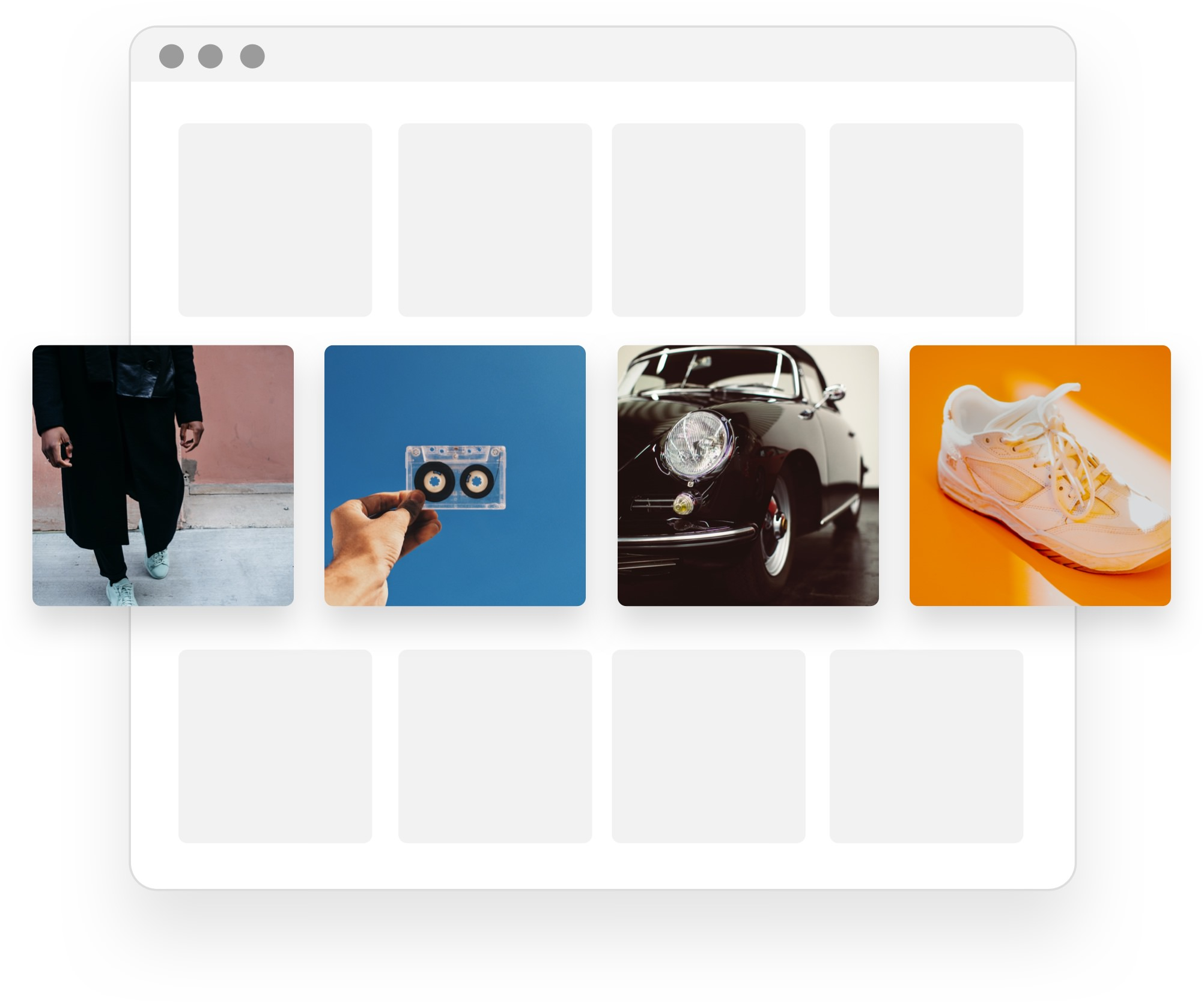Content library header visual