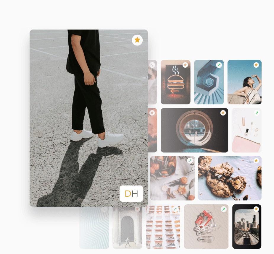Pinterest Insights intelligent media library