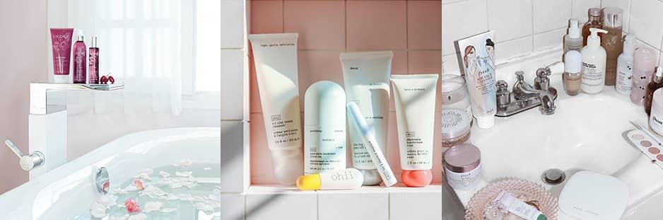skincare shelfie instagram photo ideas beauty sector
