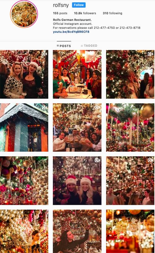 rolfsny instagram feed layout holiday