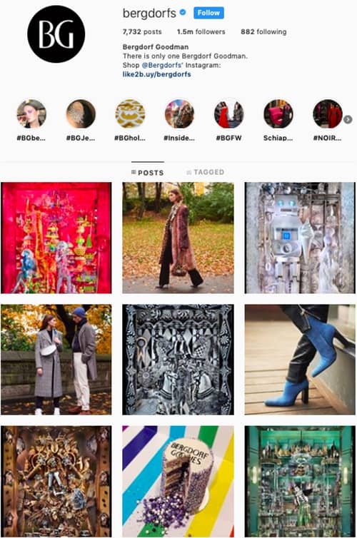 bergdorfs instagram feed layout holiday