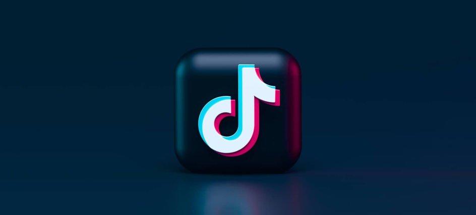TikTok logo on a blue background