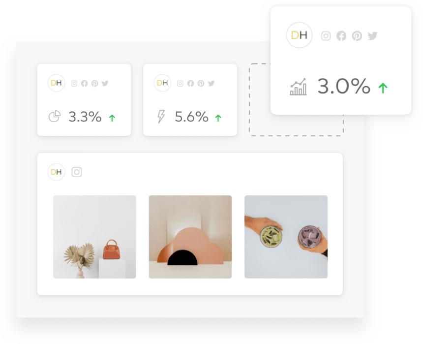 social media tools, screenshot of Dash Hudson dashboards