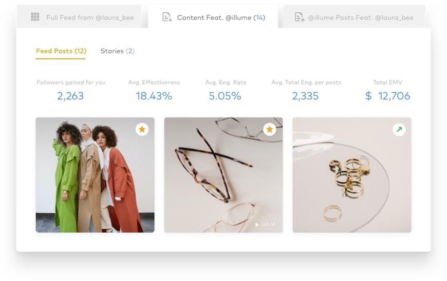 social media tools, screenshot of Dash Hudson relationships