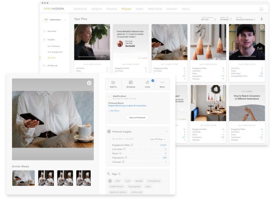 Dash Hudson platform, Pinterest marketing strategy