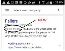Fellers Mobile Friendly Google Result