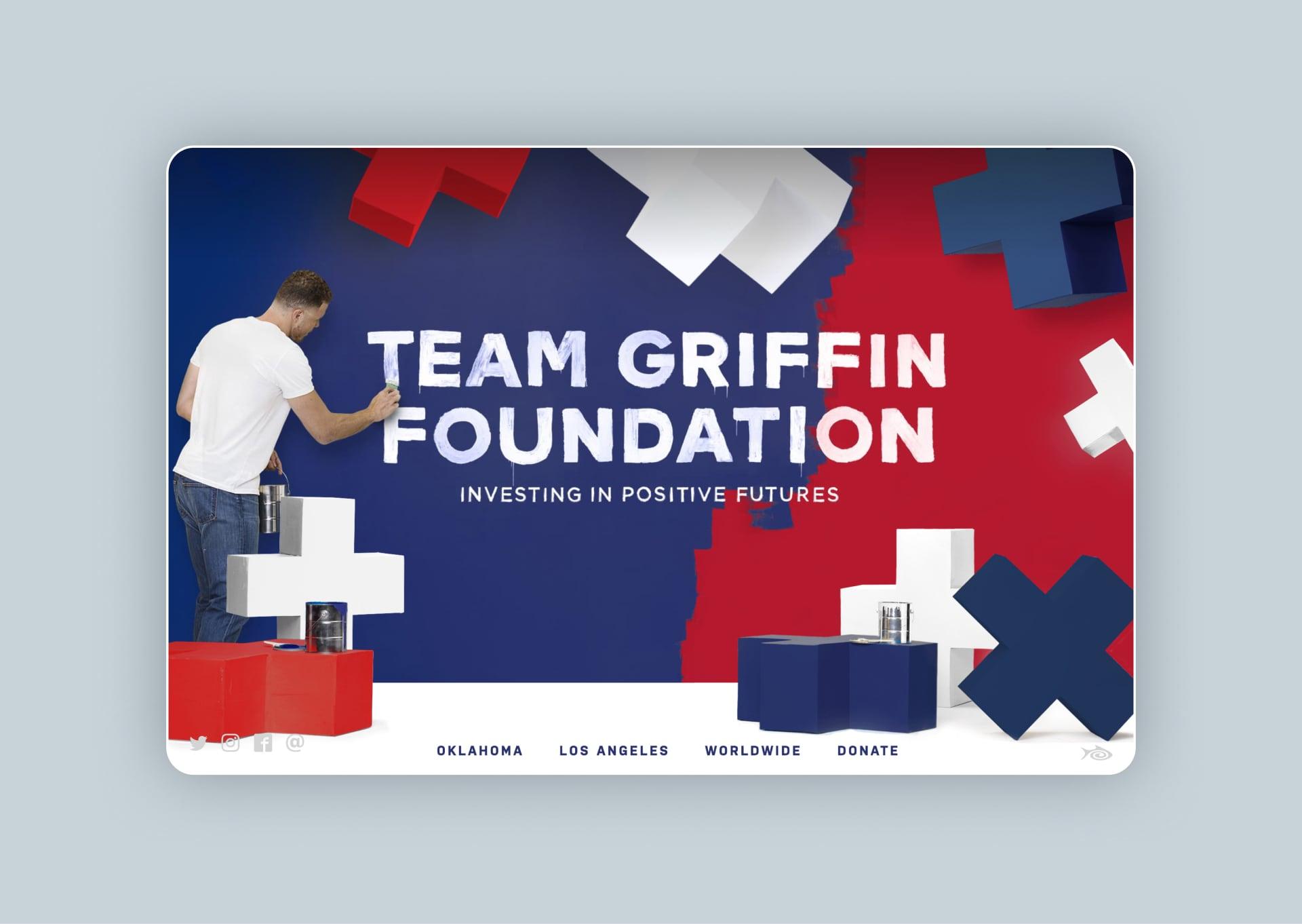 Team Griffin Foundation landing page screenshot