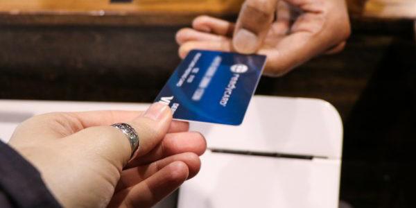 Using prepaid card at venue