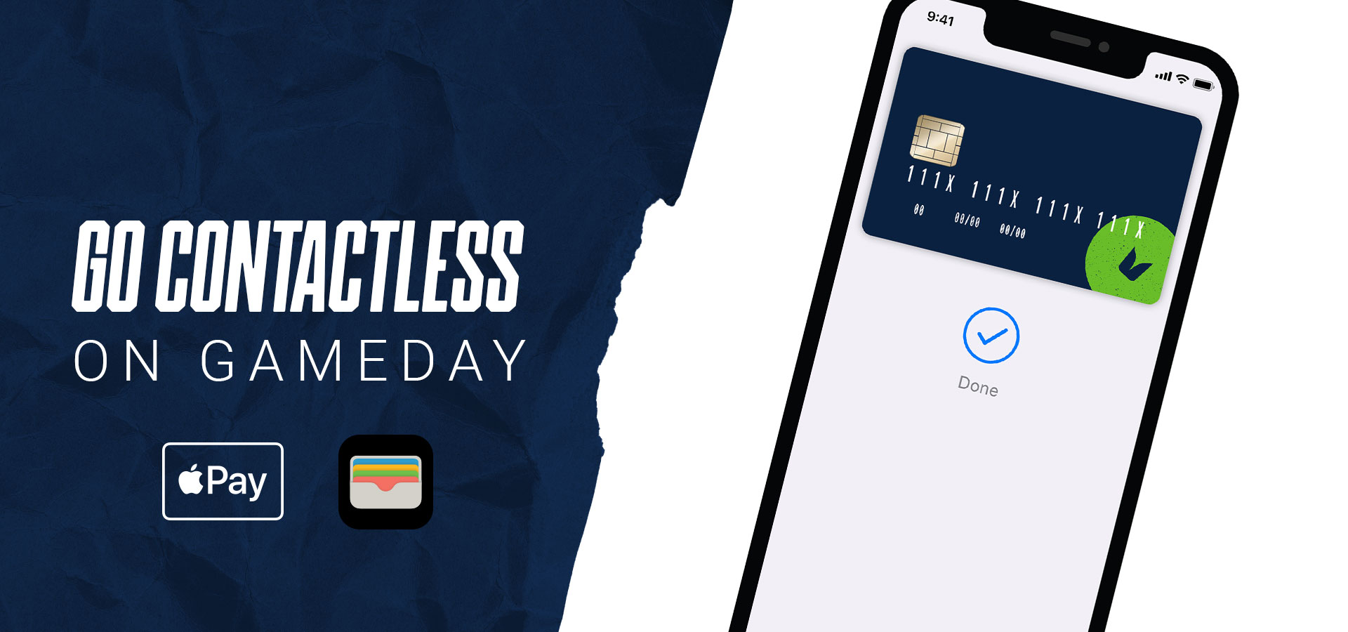 Go contactless on gameday with Apple Pay