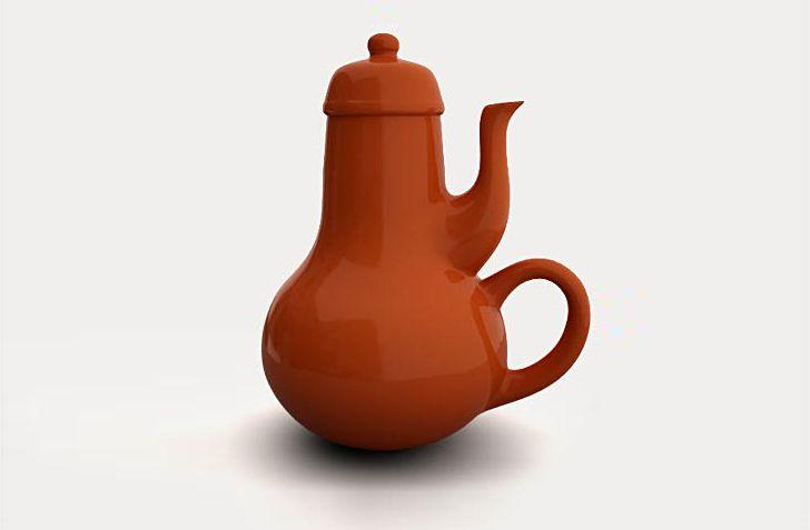 Carelman's useless teapot