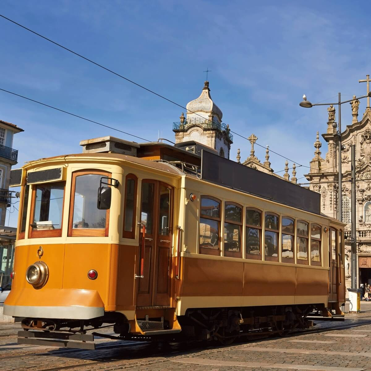An old cable car in Portugal