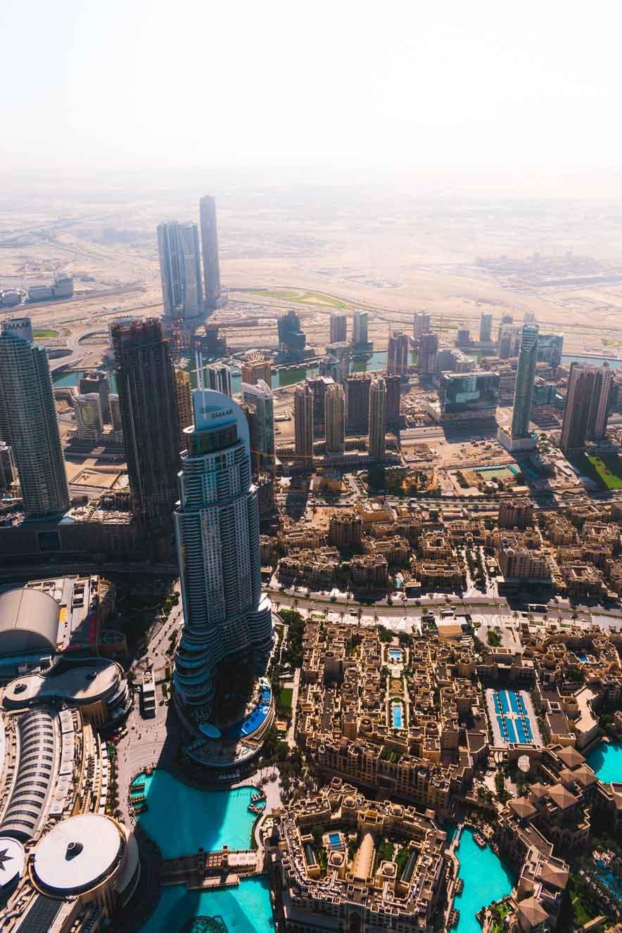 The burj khalifa in dubai UAE
