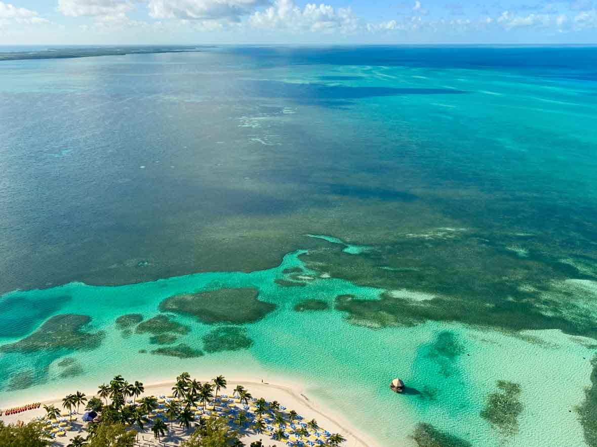 Bahamas Berry Islands aerial view