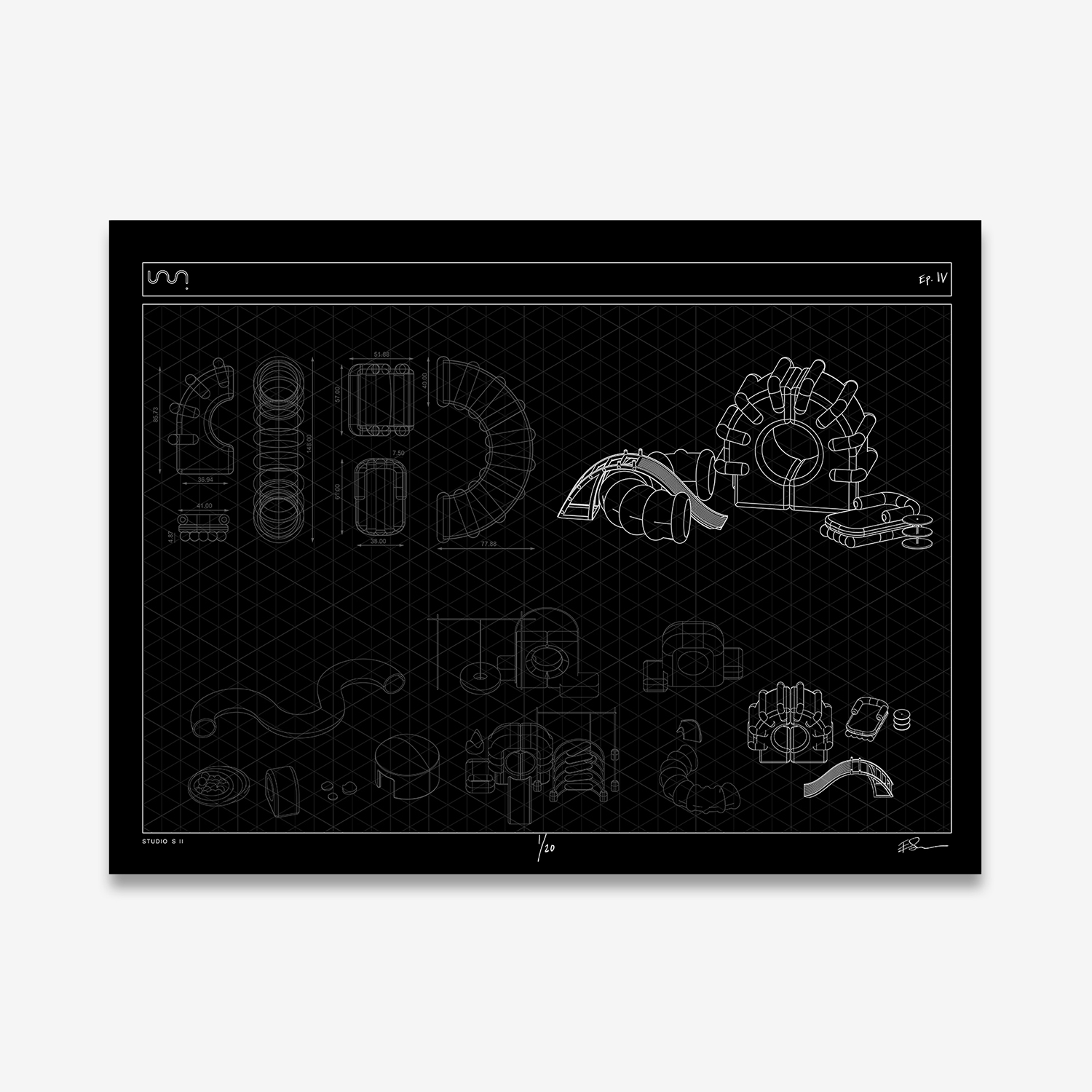 Limited Edition HBO Max Screenprint IV