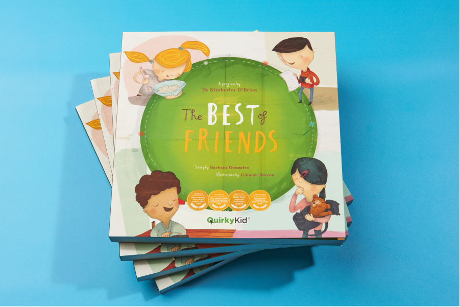 Image of The Best of Friends book by Quirky Kid in a pile