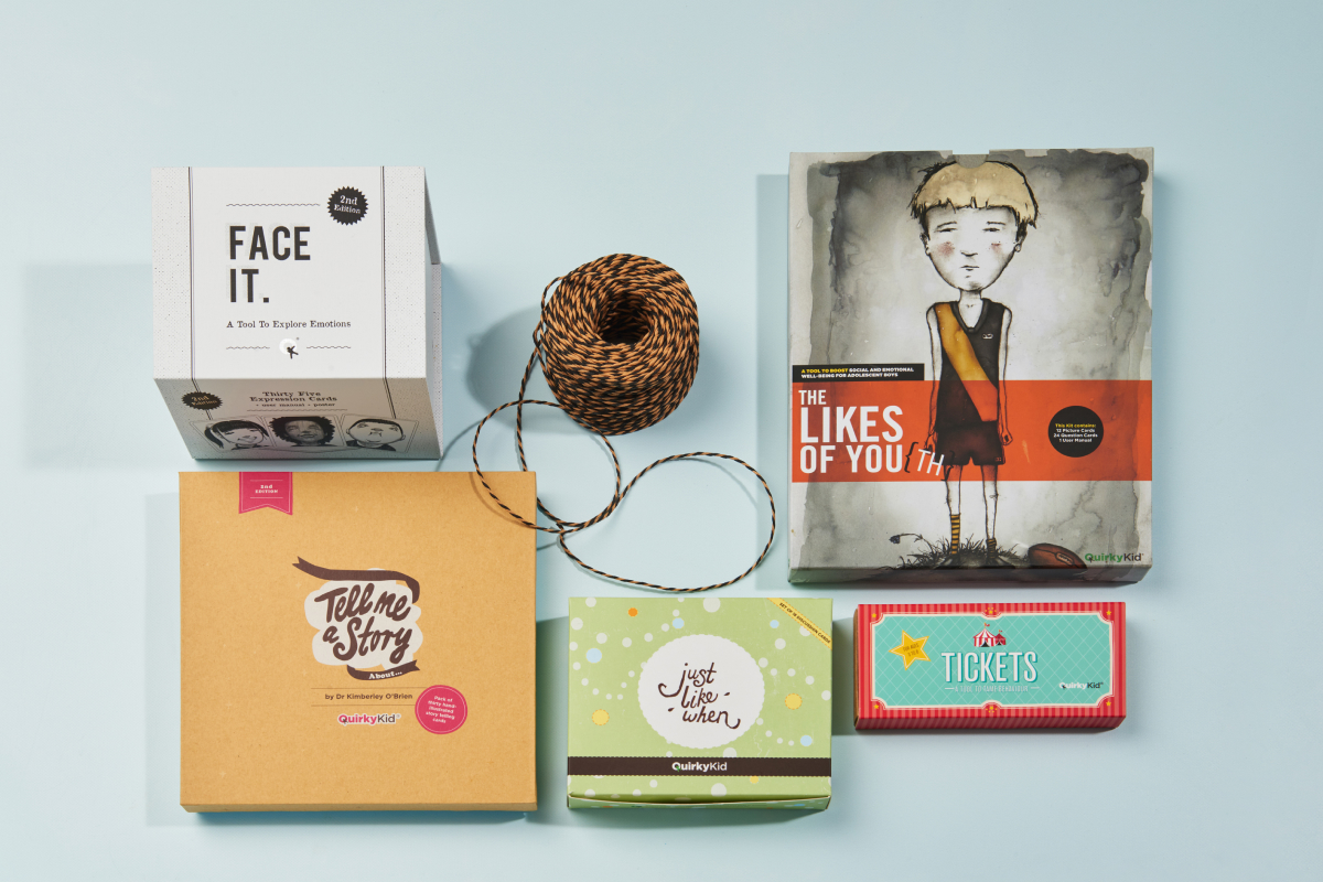 Product Photography showing all Quirky Kid Products