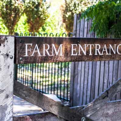 Entrance to Kids Farm Gate